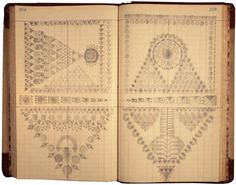 louise despont draws with graphite and pencil on antique ledger book pages