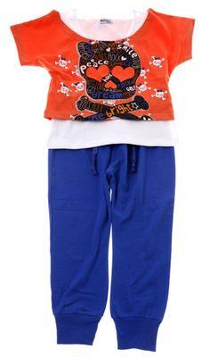 Εβίτα παιδικό σετ διπλή μπλούζα-παντελόνι «Girls Rock» - Παιδικά ρούχα f681cb45037