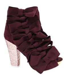 Take a look at this Burgundy Beaujoe Ankle Boot on zulily today!