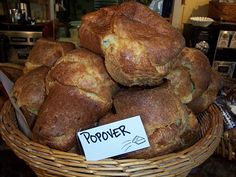 I have to say <3 is the Pie in the Sky Bakery in Woods Hole, MA Popovers I think its the main reason my daughter loves when her friends want to go to the Vineyard!