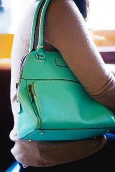 Another Kate Spade stunner seen on Shelley Murveit. Such a pretty color.     Photographed by Jasmine Gregory