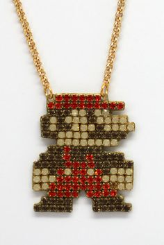 A ~glamorous~ necklace for Mario fans.