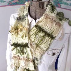 Handmade Crochet Scarf Soft Long Lightweight by WildHeartYarnings, $36.00