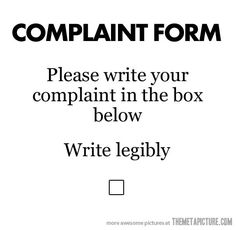 Please write your complaint in the box below...