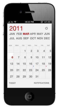 Calvetica #iphone #application #ui #calendar #minimal