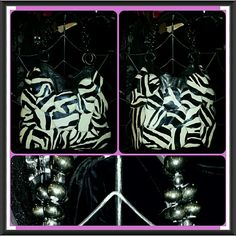 ZEBRA mod circle layer FRINGE BEADS bag purse If you are WILD ABOUT all things ZEBRA or ANIMAL PRINT than this cool beauty is FOR U!!!...ITS a roomy large purse & in AWESOME pre-luved condition Bags