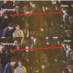 He did not stop looking at jisoo. He looked at her for 20 seconds. Bts Blackpink, Jimin, Kpop Couples, Blackpink And Bts, Kim Taehyung, Of My Life, Kdrama, I Am Awesome, In This Moment