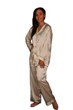 Women's Pink Satin Pajamas