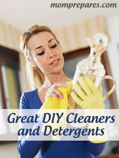 Great Homemade Cleaners and Detergents via @momprepares