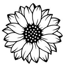 Cricut Craft Room, Cricut Vinyl, Silhouette Cameo Projects, Silhouette Design, Flower Silhouette, Silhouette Images, Vinyl Crafts, Vinyl Projects, Sunflower Stencil