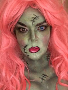 Lady Frankenstein  Makeup by me Frankenstein Makeup, Horror Makeup, Lady, Fictional Characters, Scary Makeup, Fantasy Characters