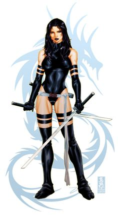 Psylocke + video tutorial by diablo2003.deviantart.com on @deviantART