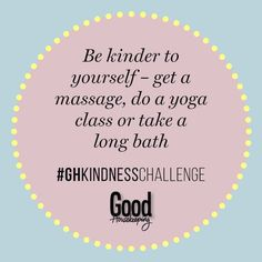 67 daily acts of kindness: Here are some easy ways you can make someone's day. Kindness Challenge, Getting A Massage, Good Housekeeping, Be Kind To Yourself, Acting, Challenges, Easy