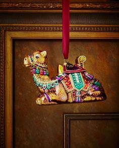 Sitting Camel Christmas Ornament by Jay Strongwater at Neiman Marcus.