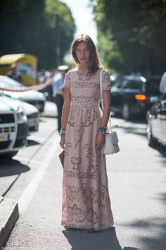 valentino. & check out the friendship bracelet overload!