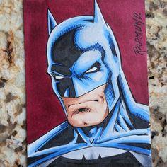 a074c1c16c Batman I drew on a sketchcard in copic color.  Batman  DCcomics  DarkKnight
