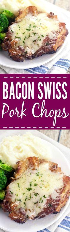 Bacon Swiss Pork Chops