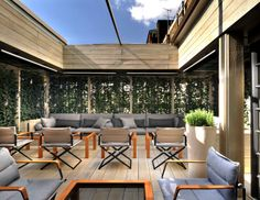 The exclusive outdoor rooftop terrace of Mark's Bar at Belgraves London