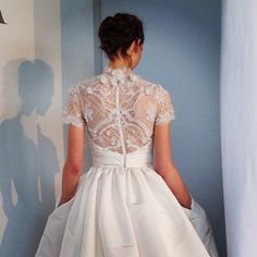 Brides.com: Spring 2015 Wedding Dress Trends. Trend: Collars. For the bride who wants to look like a queen, there's nothing more regal than a collar, which was a welcome addition to the already-popular high neckline.