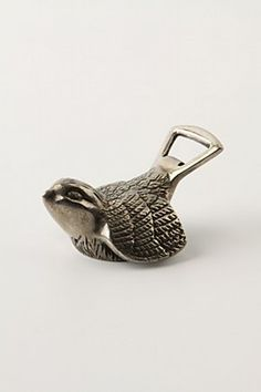 Wingspan Bottle Opener: Nickel-plated brass, a very nice bird in the hand! $16