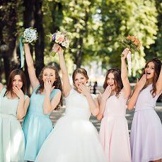 #Love #cute #lovely #flowers #happiness #wedding day #church #bridesmaids #girls #pink  #blue #green #violet Bridesmaids, Bridesmaid Dresses, Wedding Dresses, Pink Blue, Blue Green, Wedding Decorations, Wedding Day, Happiness, Girls
