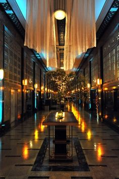 Frist Center for the Visual Arts, Downtown Nashville~ the grand lobby at night~ art deco