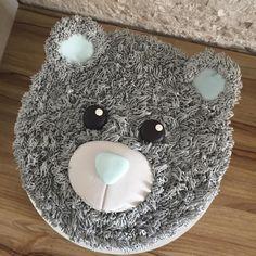 furry Teddy Bear Cake
