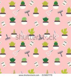Cactus illustration gardening