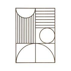 Ferm Living vægdekoration - Outline wall Rectangle