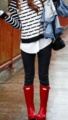 Hunter Rain Boot Fashion