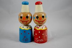 Clown Wood Shakers   Retro Japaneese by Dupasseaupresent on Etsy