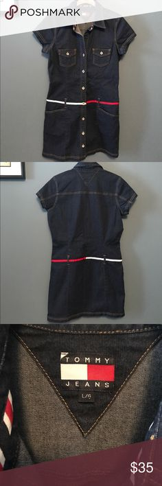 Tommy Hilfiger Stretch Denim dress❤️New❤️ Brand-new without tags. Stretches. 36 inch bust 35 inches long Tommy Hilfiger Dresses Mini