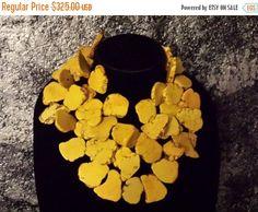 Big Bold Chunky Yellow Slab Turquoise by KATROXWEARATTITUDE