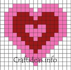 Bead Patterns -Valentine Perler Bead Patterns - Heart Of The Ocean Perle à repasser / coeurs emmêlés I Love You Heart Perler Bead Pattern / Bead Sprite 25 Gráficos de Corazones para San Valentín Fuse Bead Patterns, Perler Patterns, Craft Patterns, Beading Patterns, Mosaic Patterns, Perler Bead Designs, Fuse Beads, Perler Beads, Pixel Art Coeur