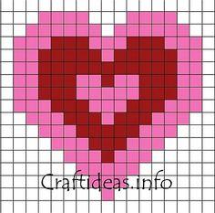 Fuse Bead Valentine Heart Pattern 400