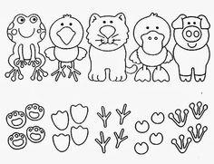 Animal Tracks Matching Sheet for pre-k, kindergarten, 1st
