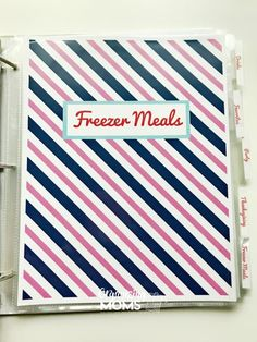 How to Make an Easy-to-Use Recipe Binder - Organizing Moms Binder Organization, Recipe Organization, Organizing, Frugal Meals, Budget Meals, Budget Recipes, Freezer Meal Party, Freezer Meals, Scrapbook Recipe Book