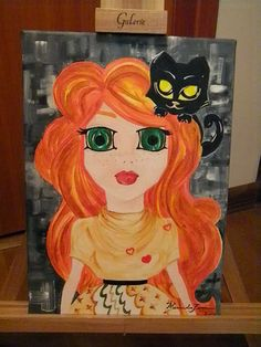 dot com: păpuşi sau păpuşele #doll #ginger #cat #blackcat #green