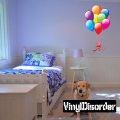 Full Color Balloon Vinyl Wall Decal or Car Sticker Balloons BA008