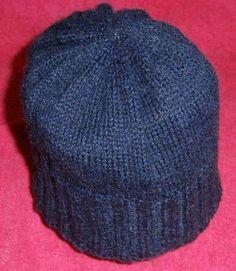 Sombreros de lana: Fotos de patrones y diseños - Sombrero de lana en color azul