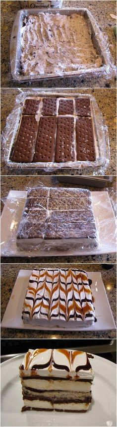 Ai Cuisine: Lazy Ice Cream Cake--made this 5/24/15 and everyone loved it.