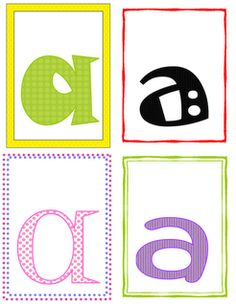 Inspired by Kindergarten: Fun Font Letter Recognition (Freebie) Good way to have children recognize letters can look different in print.