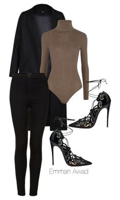 """""""Untitled #163"""" by emman-awad ❤ liked on Polyvore featuring Non, Christian Louboutin, MICHAEL Michael Kors and Topshop"""