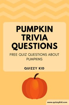 Pumpkin trivia questions and answers. Want to test your knowledge about this orange gourd? Try our 10 question quiz. You might learn some new pumpkin facts! Trivia Questions For Adults, Halloween Trivia Questions, Halloween Quizzes, Trivia For Seniors, Trivia Questions For Kids, Halloween Facts, Halloween Activities, Halloween Stuff, Quizzes For Kids
