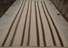 Handmade Undyed Plain and Simple Wide Organic Turkish Boho Kilim Rug,6.9x13.1 ft #Unbranded #FrenchCountry