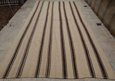 Handmade Undyed Plain and Simple Wide Organic Turkish Boho Kilim Rug,6.9x13.1 ft #Unbranded #FrenchCountry