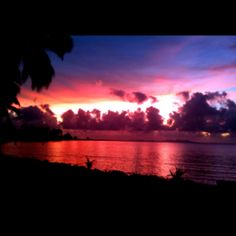 Sunset in Fiji...taken with the iPhone.