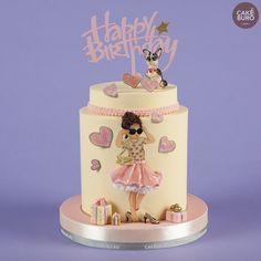 Тортик для маленькой модницы и ее собачки — с днём рождения! 🎂️🎉 #cakeburo #заказтортов #тортназаказ #детскийторт Teen Cakes, Desserts, Food, Tailgate Desserts, Deserts, Essen, Postres, Meals, Dessert