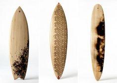 Tablas de Surf Pirograbadas, Arte y Deporte