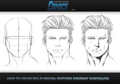 How to Draw Male Heads - Picture Perfect Portraits: http://www.howtodrawcomics.net/#!how-to-draw-heads-male-front/c108u